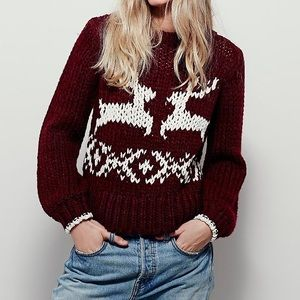 Free People | 🦌 Cozy Reindeer Sweater